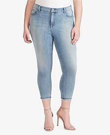 Skinnygirl Plus High Rise Skinny Crop Jeans with Baby Hem