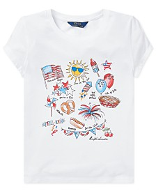 Polo Ralph Lauren Big Girls Jersey Cotton Graphic T-Shirt