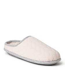 Women's Cable Quilt Clog Slippers, Available in Wide Width, Online Only