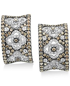 Chocolatier® Vanilla Diamond® (3/8 ct. t.w.) & Chocolate Diamond® (1-3/8 ct. t.w.) Drop Earrings in 14k White Gold