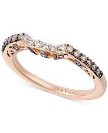 Le Vian Chocolatier® Diamond Curved Band (3/8 ct. t.w.) in 14k Rose Gold