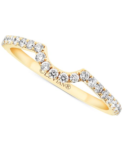Le Vian Vanilla Diamond® (3/8 ct. t.w.) Curved Band in 14k Gold