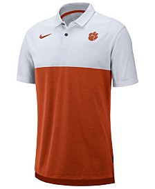 Nike Men's Clemson Tigers Dri-Fit Colorblock Breathe Polo