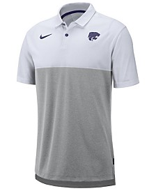 Nike Men's Kansas State Wildcats Dri-Fit Colorblock Breathe Polo