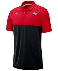 Nike Men's Ohio State Buckeyes Breathe Colorblock Polo