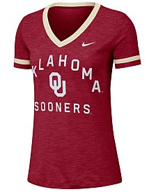 Nike Women's Oklahoma Sooners Slub Fan V-Neck T-Shirt
