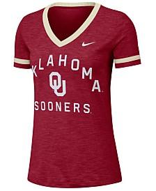 Nike Women's Oklahoma Sooners Slub Fan V-Neck T-Shirt