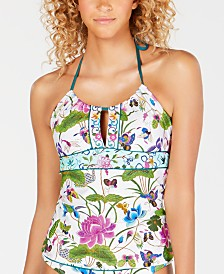 Nanette Lepore Opulent Garden Printed Honey Tankini Top