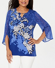 Embellished Split-Sleeve Top, Created for Macy's