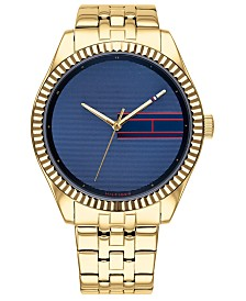 Tommy Hilfiger Women's Gold-Tone Bracelet Watch 38mm, Created for Macy's