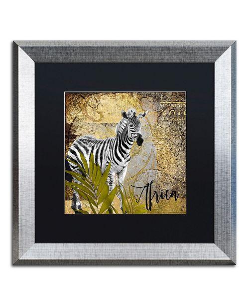 "Trademark Global Color Bakery 'Taste Of Africa IV' Matted Framed Art - 16"" x 16"""