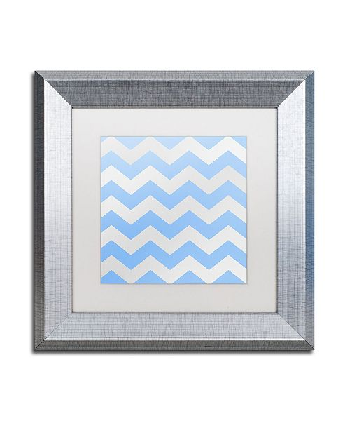 "Trademark Global Color Bakery 'Xmas Chevron 3' Matted Framed Art - 11"" x 11"""