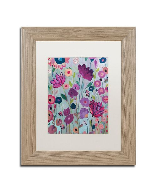"Trademark Global Carrie Schmitt 'Lilac' Matted Framed Art - 11"" x 14"""