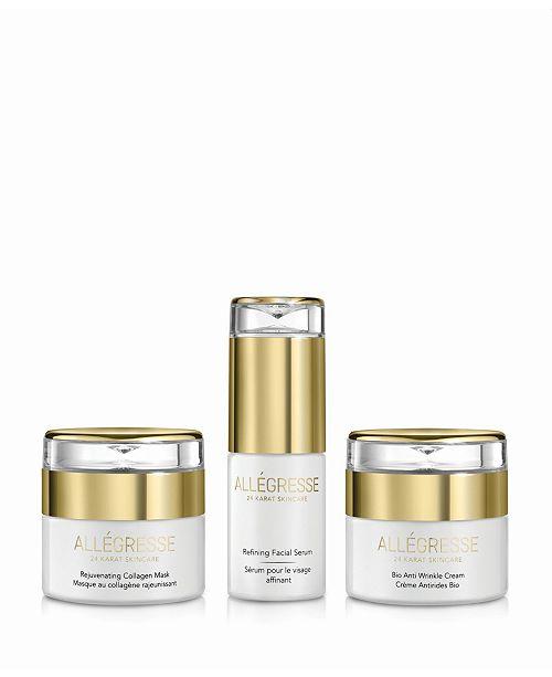 Allegresse 24 Karat Skin Care Allegresse 24K Skincare Anti Aging 3 Piece Set