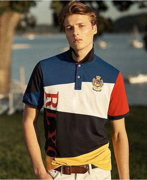 Mesh Men's Nautical Stretch Shirt Polo Classic Fit 8n0kwOP