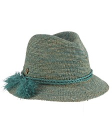 Crocheted Raffia Fedora