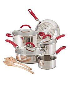 Create Delicious Stainless Steel 10-Pc. Cookware Set