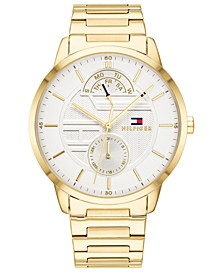 Men's Gold-Tone Bracelet Watch 44mm, Created for Macy's