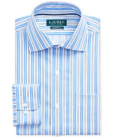 Lauren Ralph Lauren Men's Classic-Fit No-Iron Striped Dress Shirt