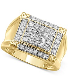 Men's Diamond Cluster Ring (1 ct. t.w.) in 10k Gold