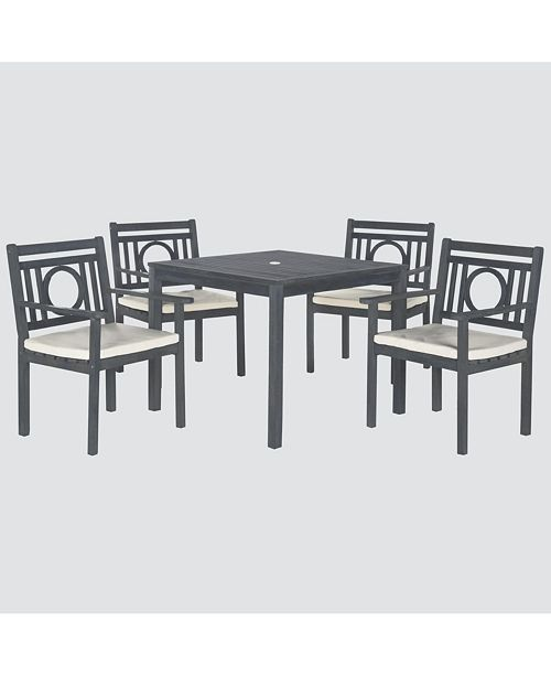 Safavieh Vallon Outdoor 5-Pc. Dining Set (Dining Table & 4 Chairs)