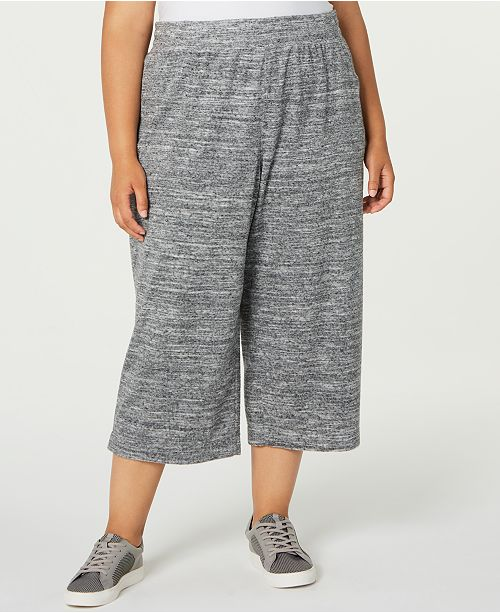 Ideology Plus Size Wide-Leg Pants, Created for Macy's