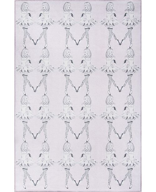 "Novogratz Collection Novogratz District Dis-5 Lilac 7'6"" x 9'6"" Area Rug"