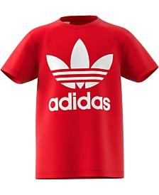 adidas Originals Big Boys Trefoil-Print Cotton T-Shirt
