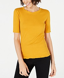 Crewneck Elbow-Sleeve Top, Created for Macy's