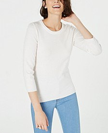 Crewneck 3/4-Sleeve Sweater, Created for Macy's