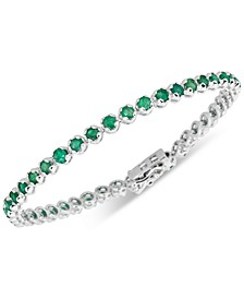 Emerald Tennis Bracelet (4 ct. t.w.) in Sterling Silver