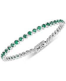 Emerald Tennis Bracelet (4 ct. t.w.) in Sterling Silver