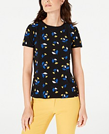 Woodstock Printed Button-Back Top