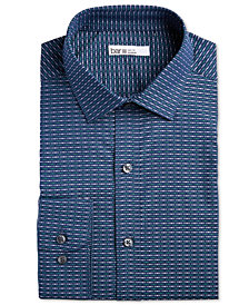 Bar III Men's Classic/Regular-Fit Stretch Horizontal Stripe Dobby Dress Shirt, Created for Macy's
