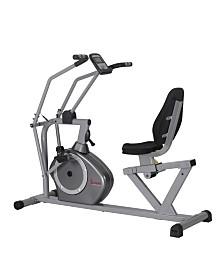 Sunny Health and Fitness Cross Training Magnetic Recumbent Bike