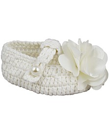 Baby Girl Crochet Bootie with T-Strap