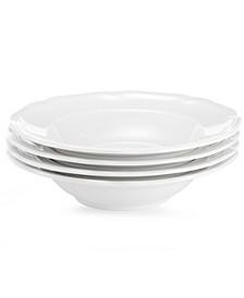 Dinnerware, Set of 4 Antique White Fruit Bowls