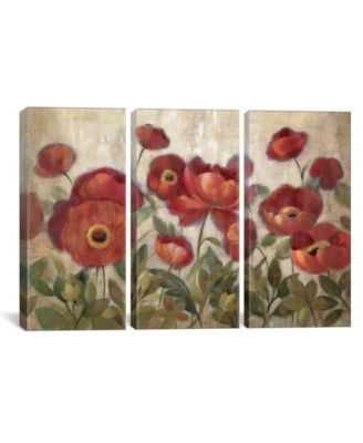 "Daydreaming Flowers Red by Silvia Vassileva Gallery-Wrapped Canvas Print - 40"" x 60"" x 1.5"""