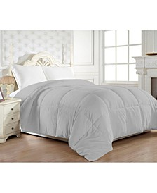 1200 Thread Count Goose Down Alternative Comforter Cotton - 750Fill Power - Solid Full/Queen