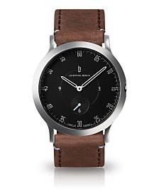 Lilienthal Berlin L1 Standard Slate Black Dial Silver Case Leather Watch 37mm