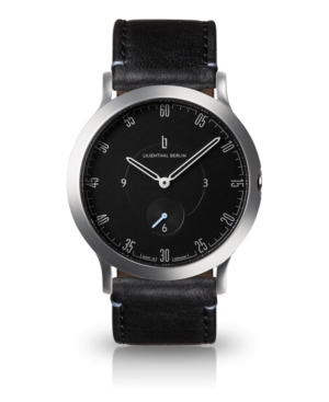 L1 Standard Slate Black Dial Silver Case Leather Watch 37mm