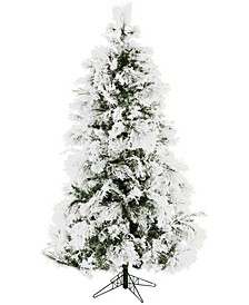 6.5'. Frosted Fir Snowy Artificial Christmas Tree