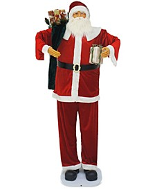 "Farm 76"" Dancing Santa With Gift And Toy Sack"