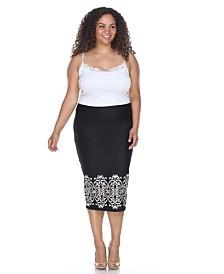 White Mark Plus Eden Pencil Skirt
