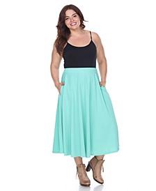 Plus Tasmin Flare Midi Skirts