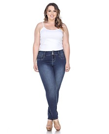 White Mark Plus Size Super Stretch Denim