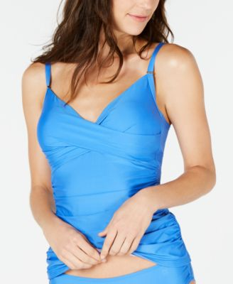 Ruched Tummy-Control Tankini Top