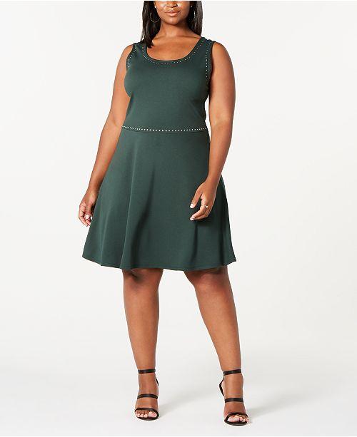 Derek Heart Rosie Harlow Trendy Plus Size  Studded Tank Dress
