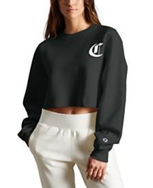 Champion Reverse Weave Logo Cropped Sweatshirt