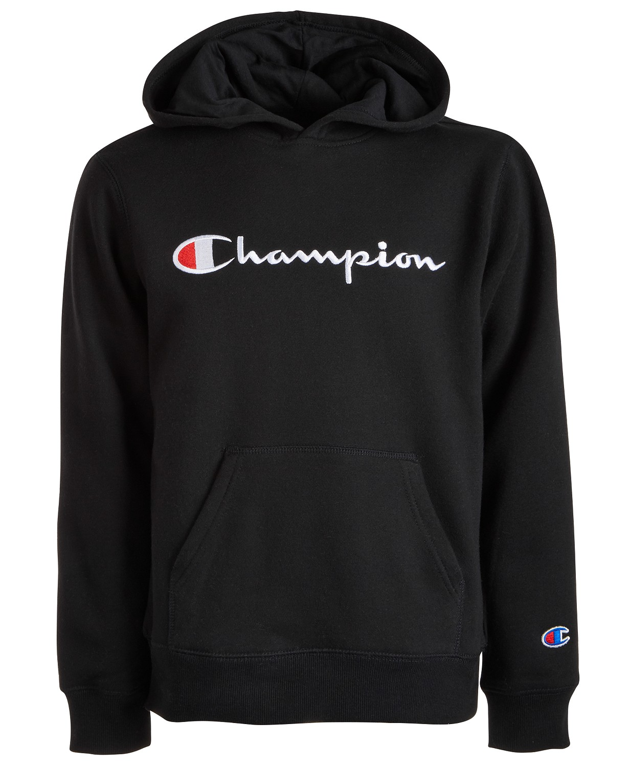 Champion Big Boys Embroidered Pullover Fleece Hoodie